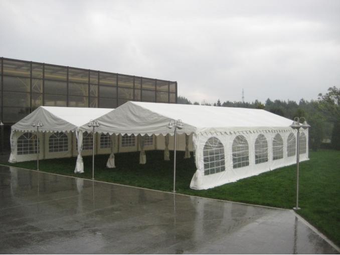 Тента с размери 6 х 12 метра – 72 кв. метра, на модули през 2 м